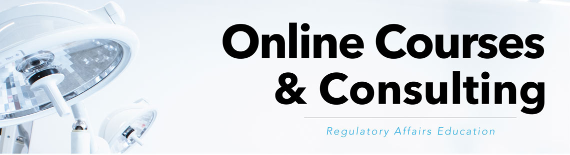 Surgery lights and text: Online Courses & Consulting
